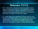 hebrews 11 1 3