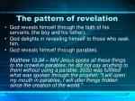 the pattern of revelation