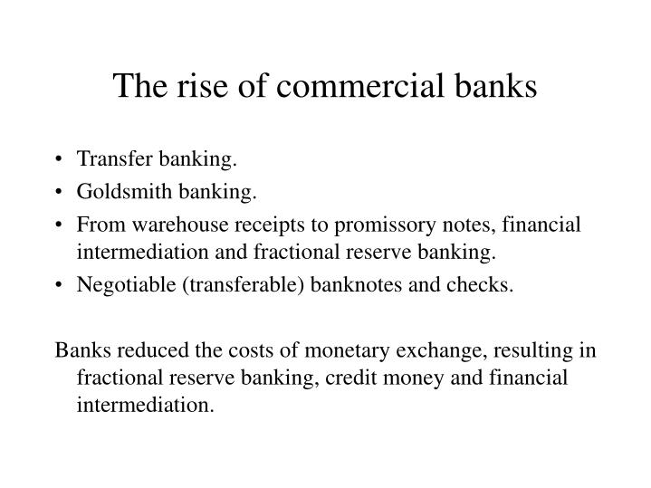 the rise of commercial banks n.