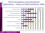 isco occupations and educational attainments shares of eu25 workforce 2006