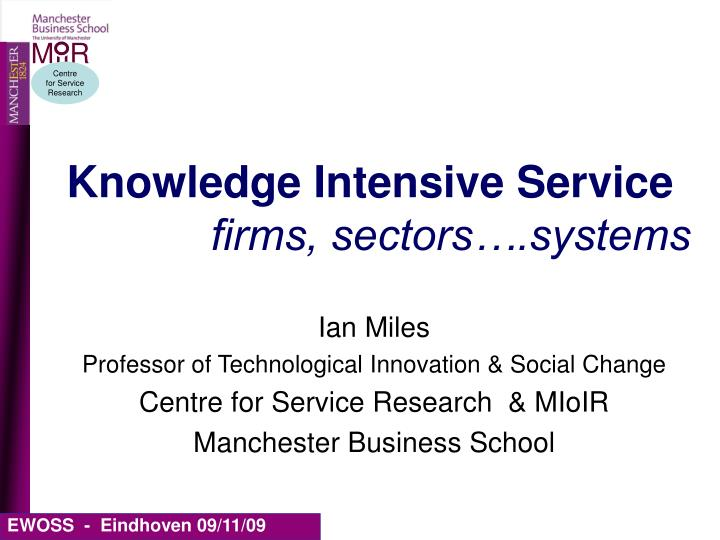 knowledge intensive service firms sectors systems n.