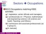 sectors occupations