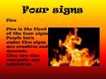 four signs