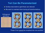 tori can be parameterized