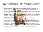two ontologies of freedom sartre