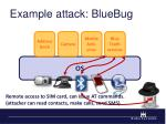 example attack bluebug