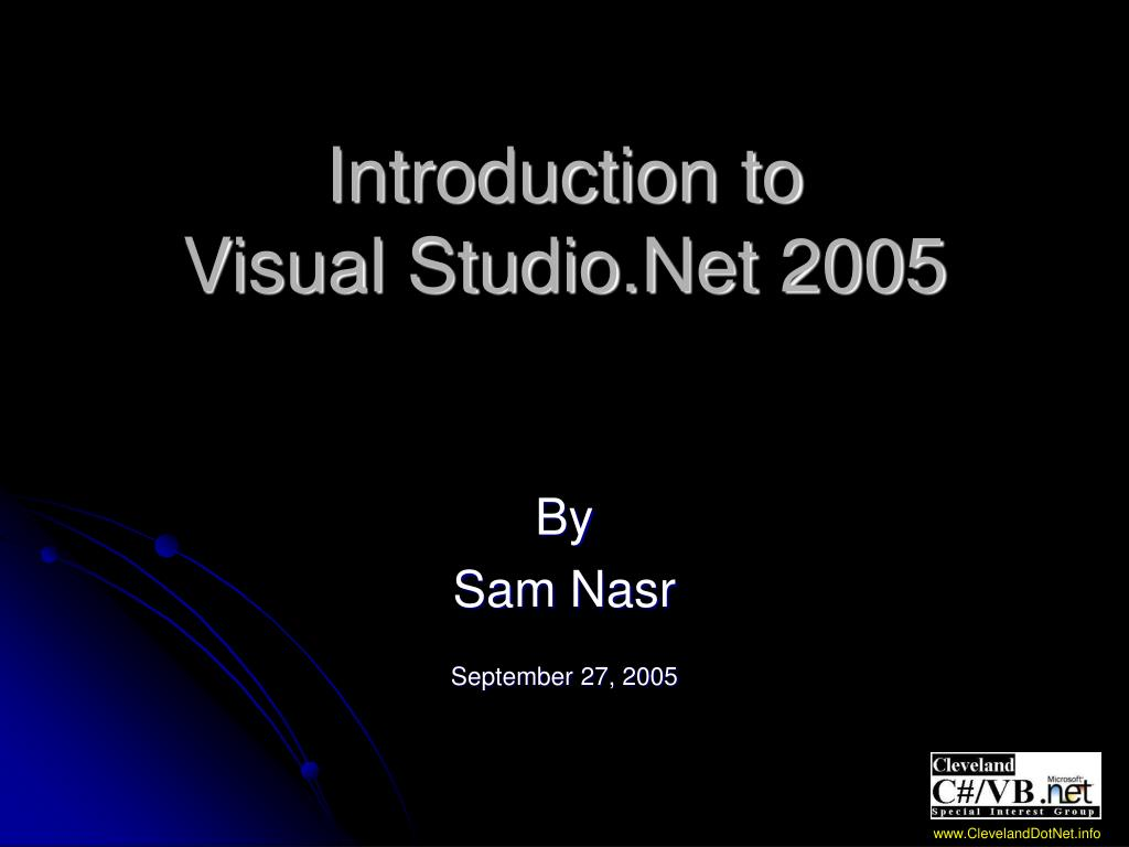 introduction to visual studio net 2005 l.