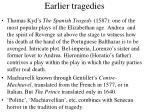 earlier tragedies