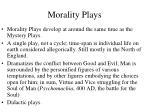 morality plays