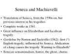 seneca and machiavelli