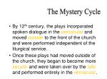 the mystery cycle