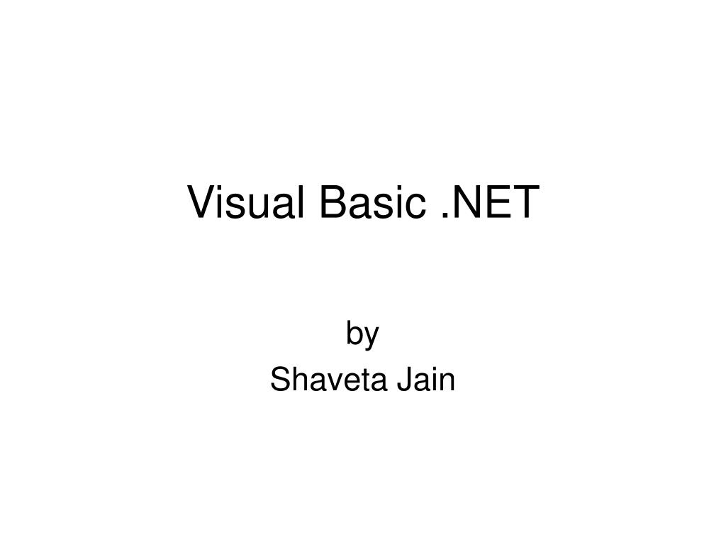visual basic net l.