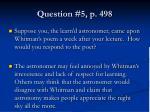 question 5 p 498