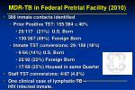 mdr tb in federal pretrial facility 20103