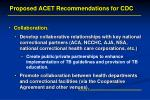 proposed acet recommendations for cdc1