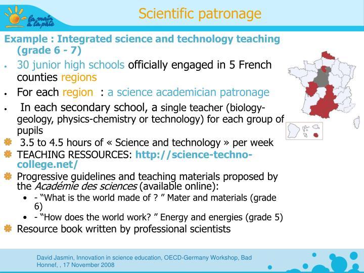 Scientific patronage