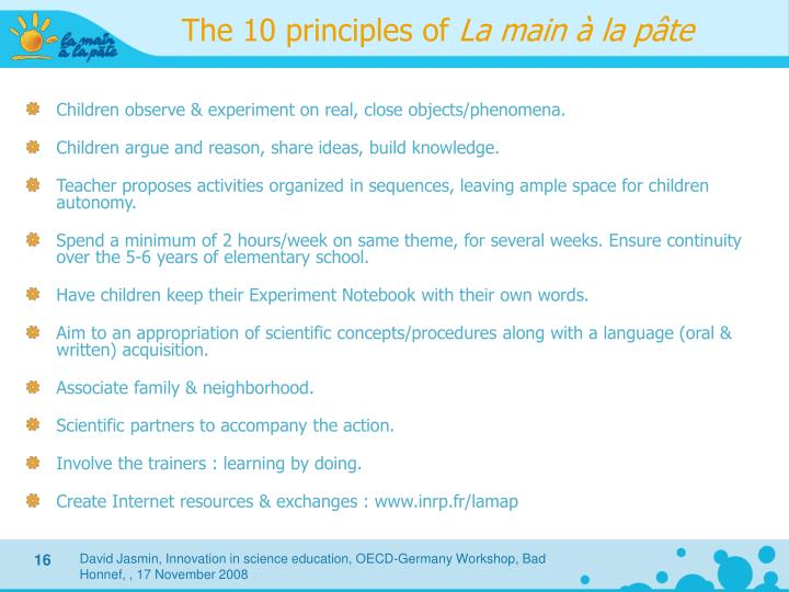 The 10 principles of