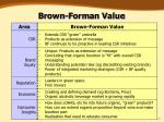 brown forman value