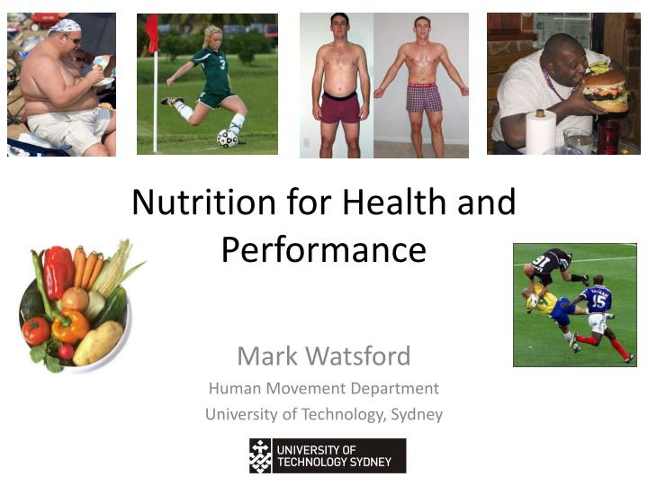 nutrition for health and performance n.