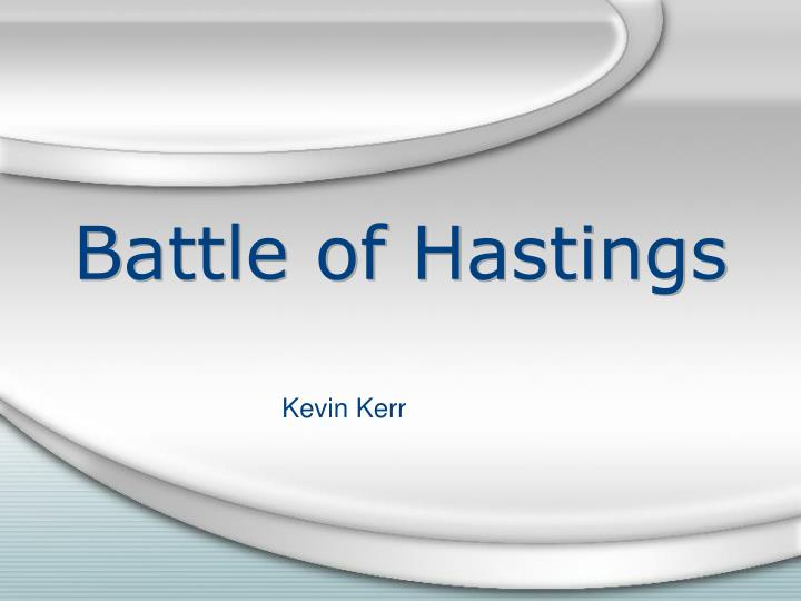 battle of hastings n.