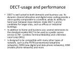 dect usage and performance