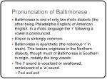 pronunciation of baltimorese