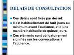 delais de consultation