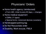 physicians orders