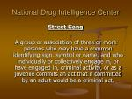 national drug intelligence center