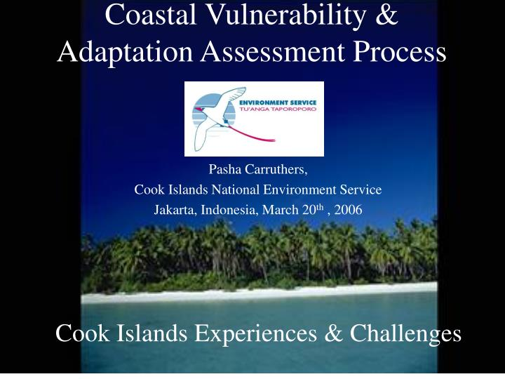 coastal vulnerability adaptation assessment process n.