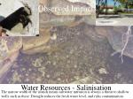 water resources salinisation