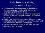 unit sketch enduring understandings
