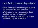 unit sketch essential questions