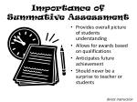 importance of summative assessment
