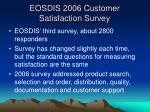 eosdis 2006 customer satisfaction survey