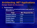 architecting net applications design goals for duwamish15