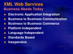 xml web services business needs today
