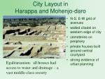 city layout in harappa and mohenjo daro