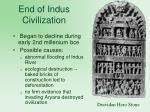 end of indus civilization