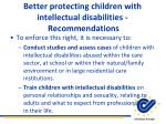 better protecting children with intellectual disabilities recommendations