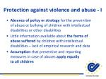 protection against violence and abuse i