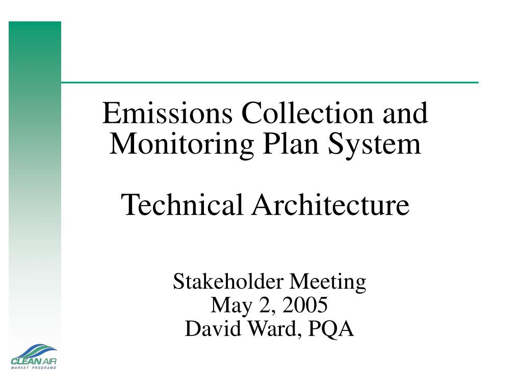 emissions collection and monitoring plan system technical architecture l.