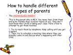 how to handle different types of parents1