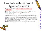how to handle different types of parents2