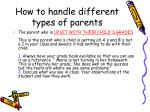 how to handle different types of parents3