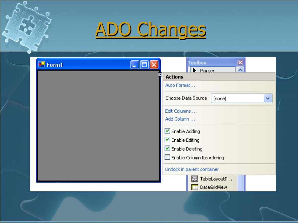 ADO Changes