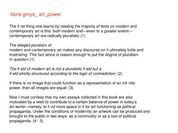 boris groys art power pdf