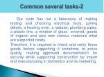 common several tasks 2