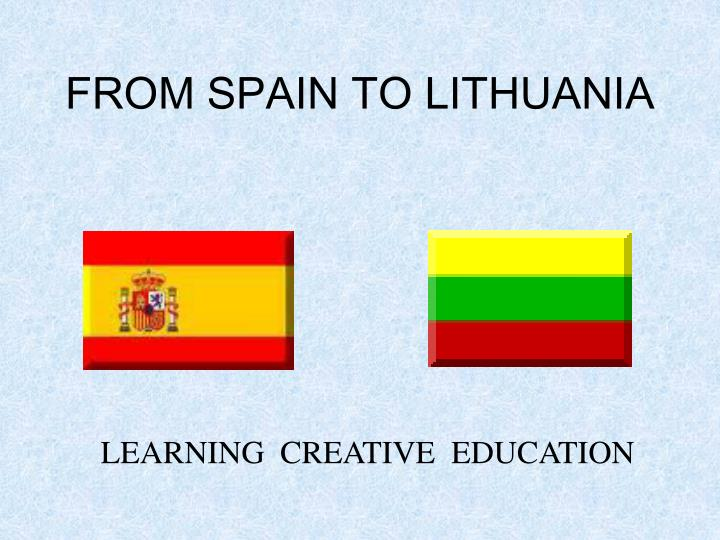 from spain to lithuania n.