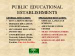 public educational establishments